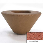 Wausau SL476 Round Outdoor Planter - Weatherstone Brick Red 36x18