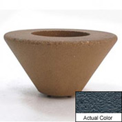 Wausau SL476 Round Outdoor Planter - Weatherstone Charcoal 36x18