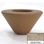 Wausau SL477 Round Outdoor Planter - Weatherstone Gray 72x21