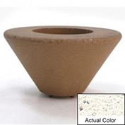 Wausau SL477 Round Outdoor Planter - Weatherstone White 72x21
