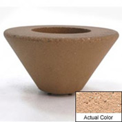 Wausau SL477 Round Outdoor Planter - Weatherstone Cream 72x21