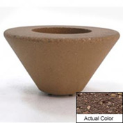 Wausau SL477 Round Outdoor Planter - Weatherstone Brown 72x21