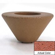 Wausau SL477 Round Outdoor Planter - Weatherstone Brick Red 72x21