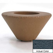 Wausau SL477 Round Outdoor Planter - Weatherstone Charcoal 72x21