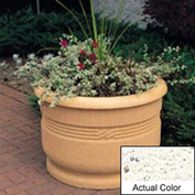 Wausau TF4026 Round Outdoor Planter - Weatherstone White 36x24