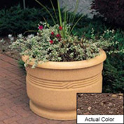 Wausau TF4026 Round Outdoor Planter - Weatherstone Brown 36x24