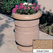 Wausau TF4027 Round Outdoor Planter - Weatherstone Sand 26x24