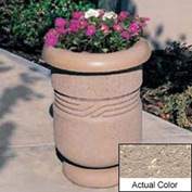 Wausau TF4027 Round Outdoor Planter - Weatherstone Buff 26x24