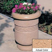 Wausau TF4027 Round Outdoor Planter - Weatherstone Cream 26x24