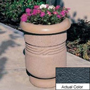 Wausau TF4027 Round Outdoor Planter - Weatherstone Charcoal 26x24