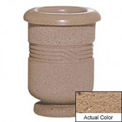 Wausau TF4028 Round Outdoor Planter - Weatherstone Sand 18x24