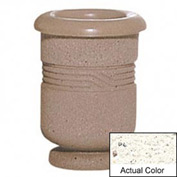 Wausau TF4028 Round Outdoor Planter - Weatherstone White 18x24
