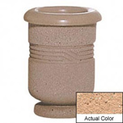 Wausau TF4028 Round Outdoor Planter - Weatherstone Cream 18x24