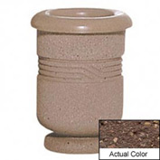 Wausau TF4028 Round Outdoor Planter - Weatherstone Brown 18x24