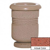 Wausau TF4028 Round Outdoor Planter - Weatherstone Brick Red 18x24