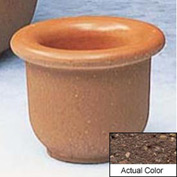 Wausau TF4045 Round Outdoor Planter - Weatherstone Brown 18x12