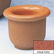 Wausau TF4045 Round Outdoor Planter - Weatherstone Brick Red 18x12