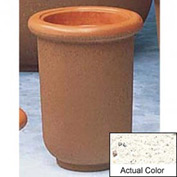 Wausau TF4050 Round Outdoor Planter - Weatherstone White 18x24