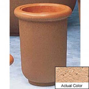 Wausau TF4050 Round Outdoor Planter - Weatherstone Cream 18x24