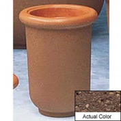 Wausau TF4050 Round Outdoor Planter - Weatherstone Brown 18x24