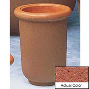 Wausau TF4050 Round Outdoor Planter - Weatherstone Brick Red 18x24
