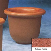 Wausau TF4055 Round Outdoor Planter - Weatherstone Brick Red 30x24