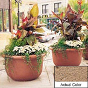 Wausau TF4060 Round Outdoor Planter - Weatherstone Sand 42x24