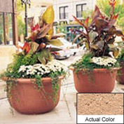 Wausau TF4060 Round Outdoor Planter - Weatherstone Cream 42x24