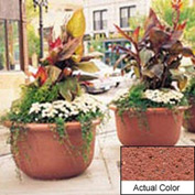 Wausau TF4060 Round Outdoor Planter - Weatherstone Brick Red 42x24