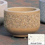 Wausau TF4075 Round Outdoor Planter - Weatherstone White 24x17