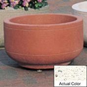 Wausau TF4080 Round Outdoor Planter - Weatherstone White 30x17