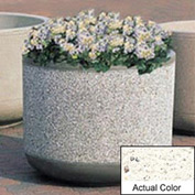 Wausau TF4085 Round Outdoor Planter - Weatherstone White 30x30
