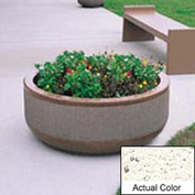 Wausau TF4105 Round Outdoor Planter - Weatherstone White 42x17