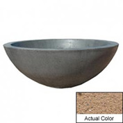 Wausau TF4106 Round Outdoor Planter - Weatherstone Sand 48x18