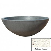 Wausau TF4106 Round Outdoor Planter - Weatherstone White 48x18