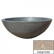 Wausau TF4106 Round Outdoor Planter - Weatherstone Buff 48x18