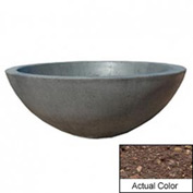 Wausau TF4106 Round Outdoor Planter - Weatherstone Brown 48x18