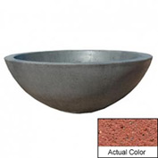 Wausau TF4106 Round Outdoor Planter - Weatherstone Brick Red 48x18