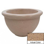 Wausau TF4107 Round Outdoor Planter - Weatherstone Sand 40x24