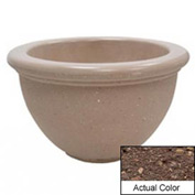 Wausau TF4107 Round Outdoor Planter - Weatherstone Brown 40x24