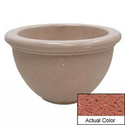 Wausau TF4107 Round Outdoor Planter - Weatherstone Brick Red 40x24