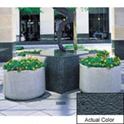 Wausau TF4115 Round Outdoor Planter - Weatherstone Charcoal 48x26