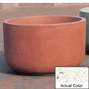 Wausau TF4120 Round Outdoor Planter - Weatherstone White 48x30