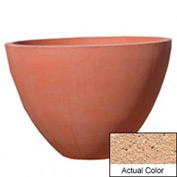 Wausau TF4122 Round Outdoor Planter - Weatherstone Cream 48x36