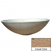 Wausau TF4128 Round Outdoor Planter - Weatherstone Sand 60x18