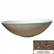 Wausau TF4128 Round Outdoor Planter - Weatherstone Brown 60x18