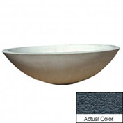 Wausau TF4128 Round Outdoor Planter - Weatherstone Charcoal 60x18
