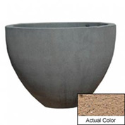 Wausau TF4132 Round Outdoor Planter - Weatherstone Sand 60x42