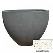 Wausau TF4132 Round Outdoor Planter - Weatherstone White 60x42