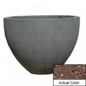 Wausau TF4132 Round Outdoor Planter - Weatherstone Brown 60x42